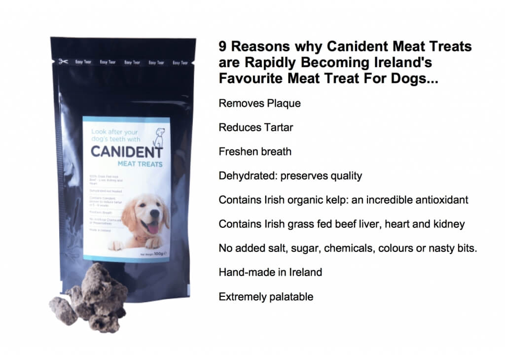 image of a pack of candient meat treats with 7 USP's along side
