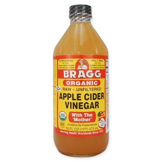 bottle of braggs apple cider vinegar
