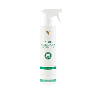 A spray bottle of Aloe Vet Formula
