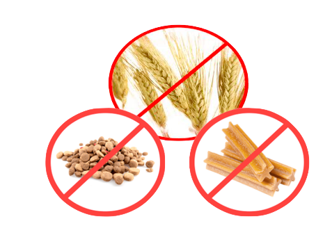 remove wheat, dental sticks and dry food to cure weepy eyes in dogs