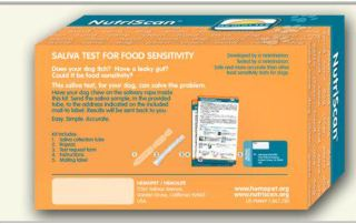 box containing nutriscan, the allergy test for dogs